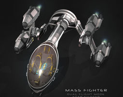 rigged 3d model mass fighter