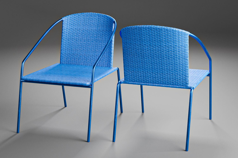 Modern Outdoor Rattan Bistro Chair