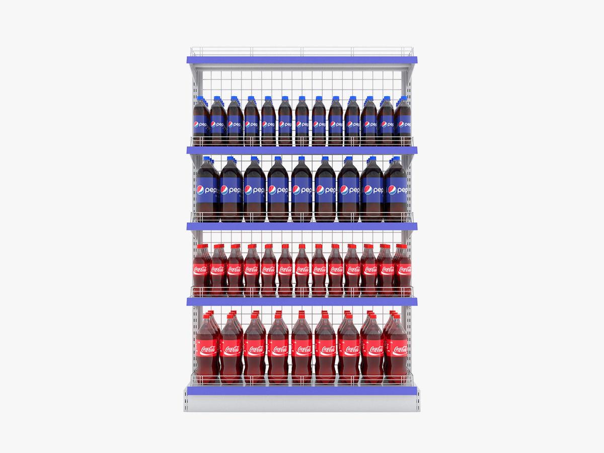 Supermarket Beverage Single Wire Shelf