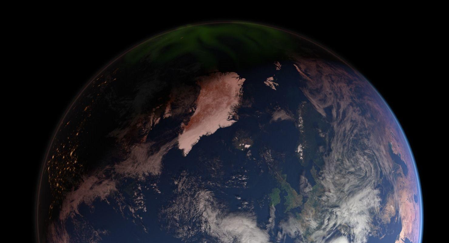 43K Realistic Earth Aurora Lights