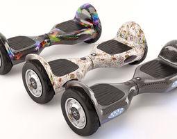Self Balancing Electric Scooter 3D