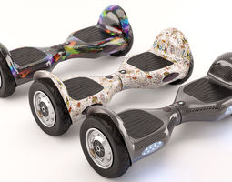 Self Balancing Electric Scooter 3D Model