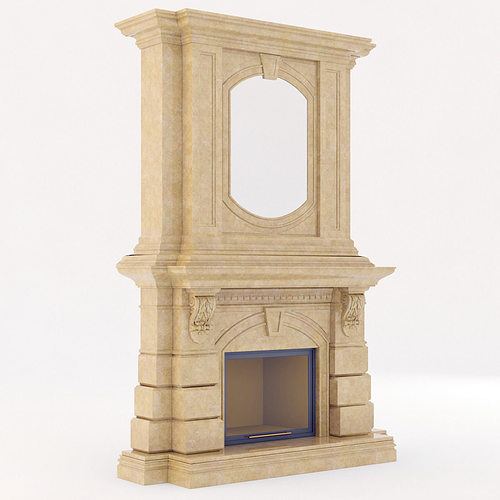 classical marble fireplace 2 3d model max obj 3ds fbx mtl 1