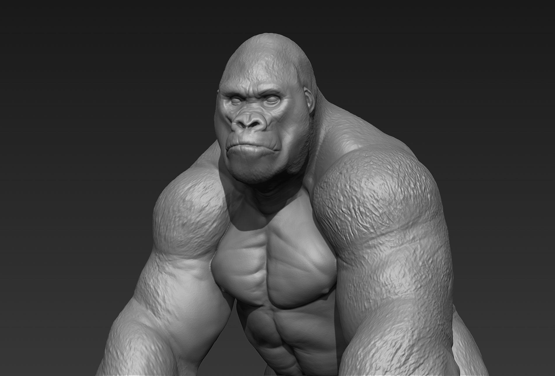 Gorilla 3d Print Ready