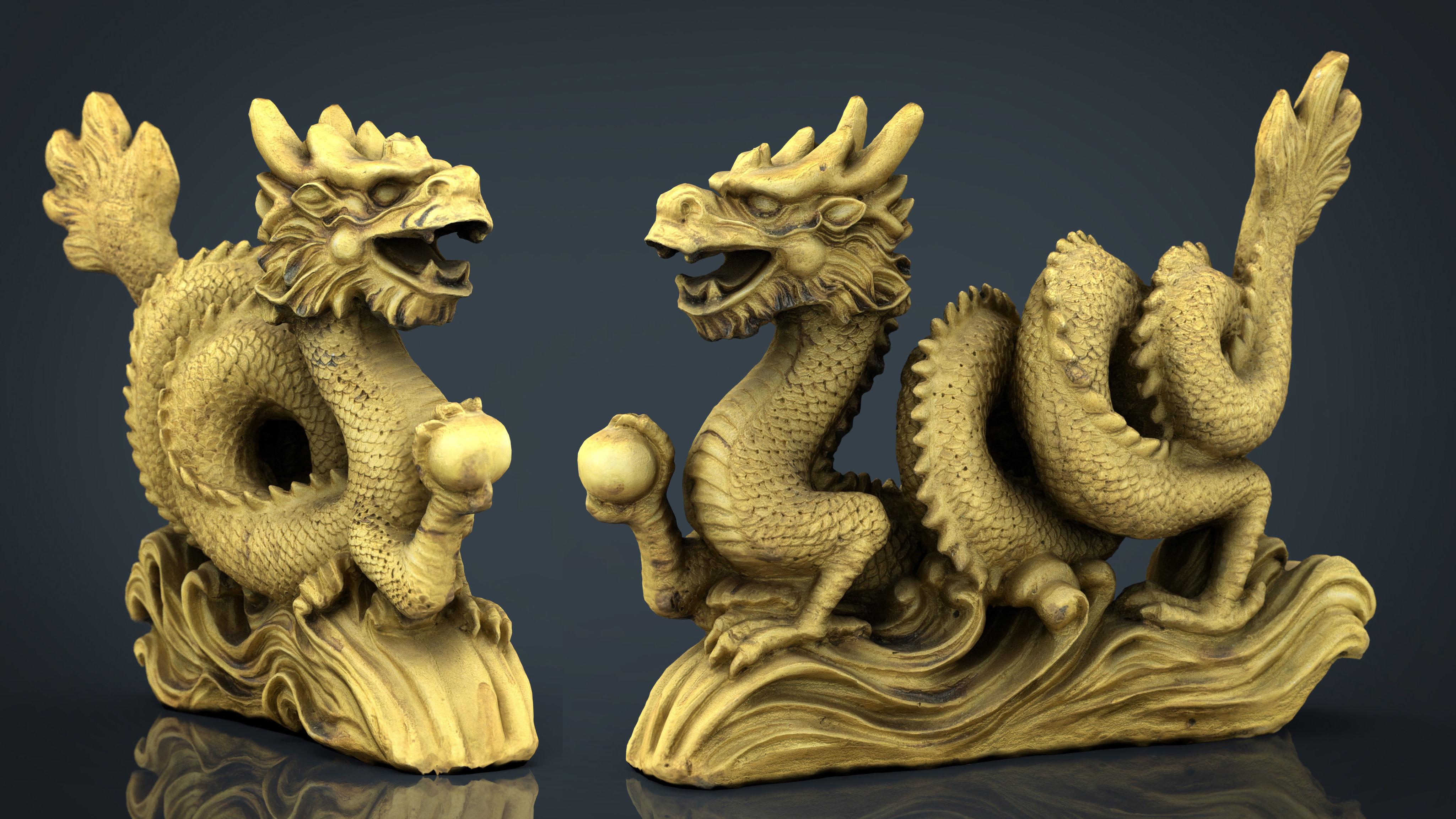 Chinese dragon statue 2