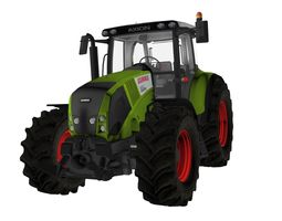 low-poly 3d asset claas axion 820