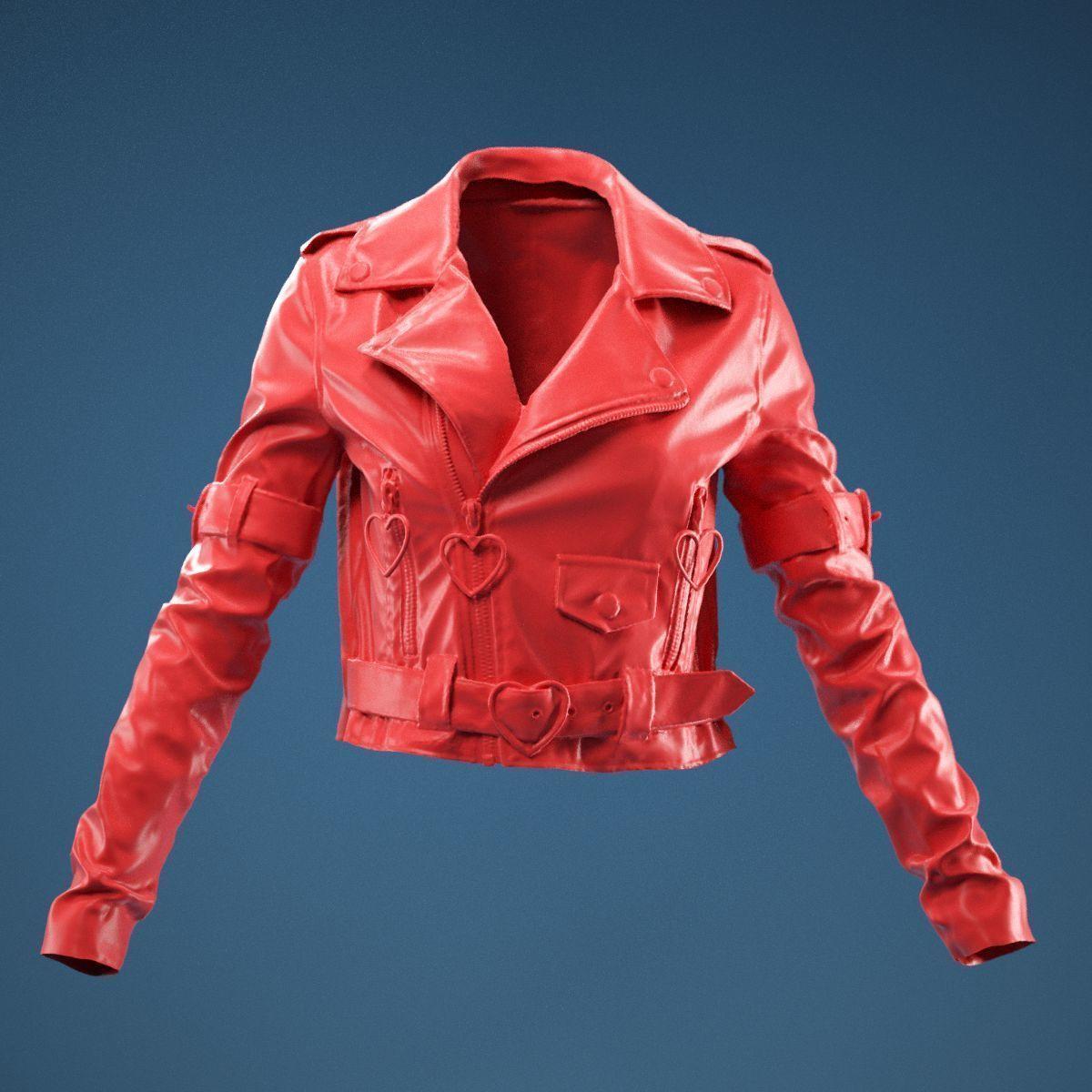 Pink PVC Jacket Closed