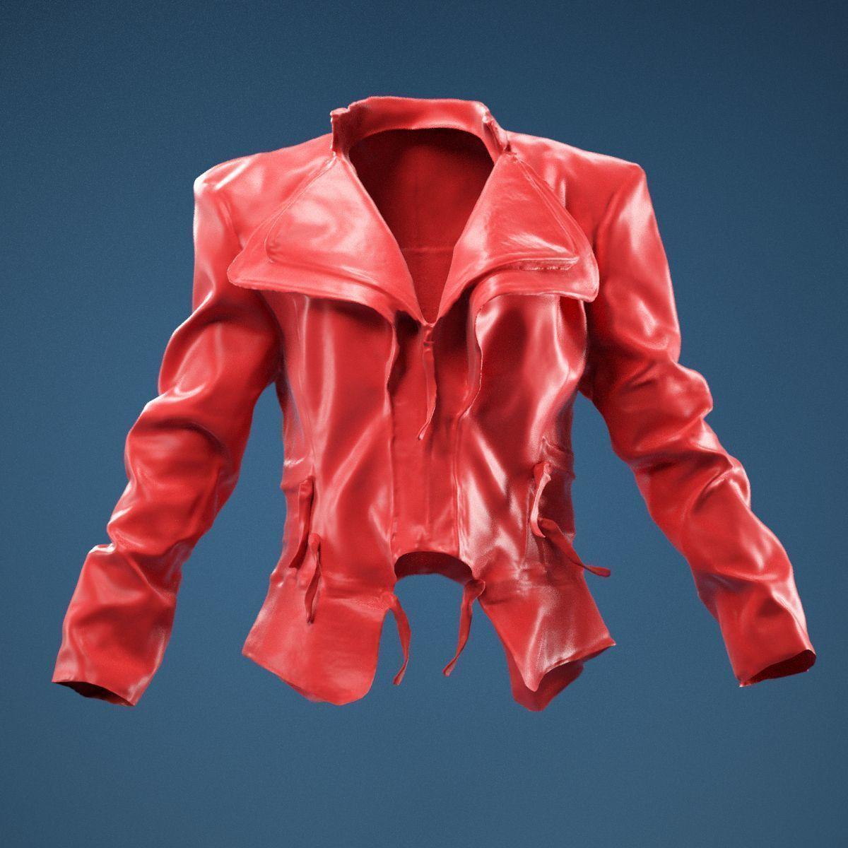 Flaps Leather Jacket Closed