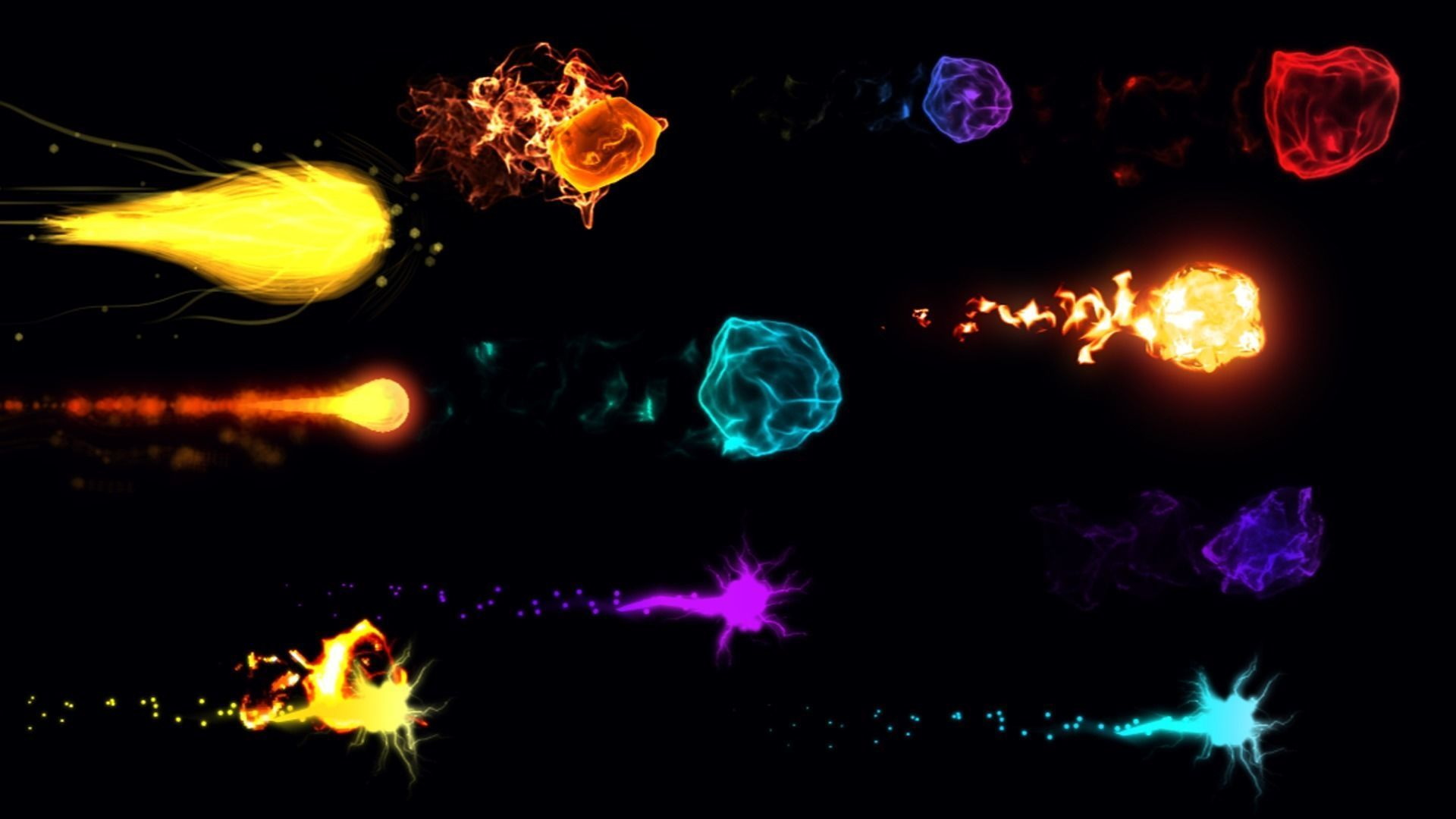 Projectile Fireball Ball Particle Explosion Effects Magic VFX
