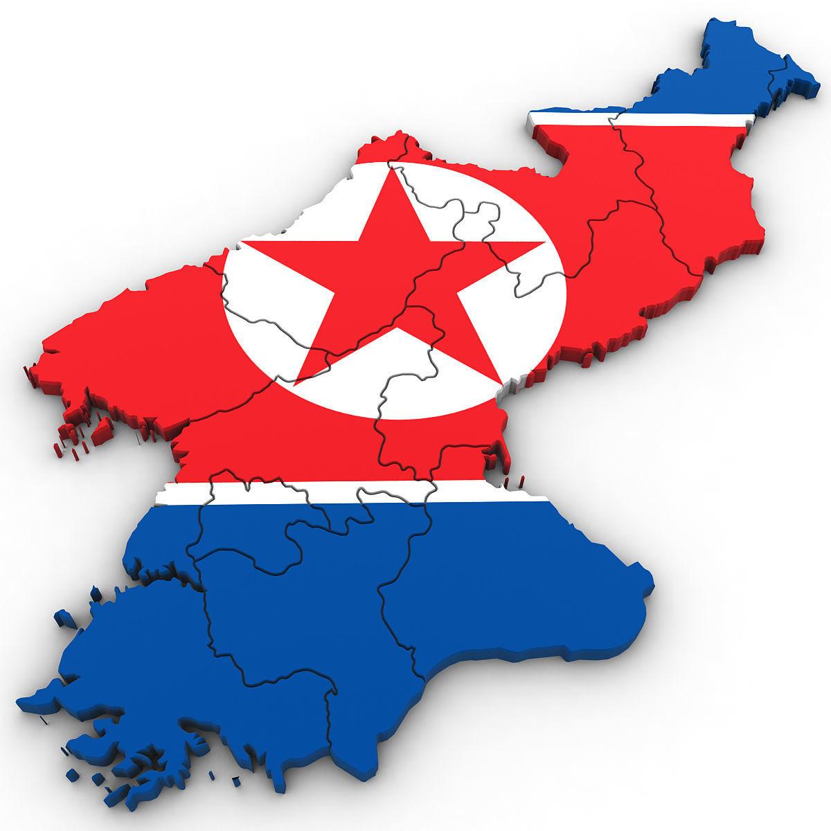 3D Political Map of North Korea | 3D model