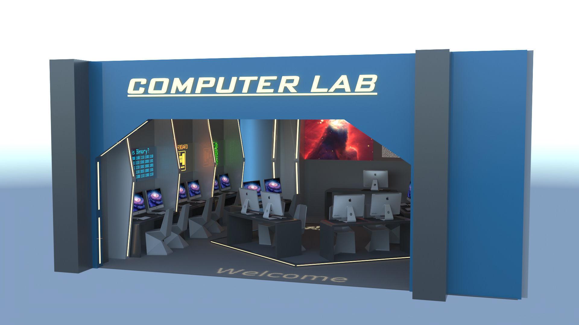 Futuristic Computer Lab Design   3D model