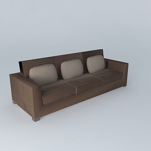 3d milano sofa maisons du monde cgtrader. Black Bedroom Furniture Sets. Home Design Ideas