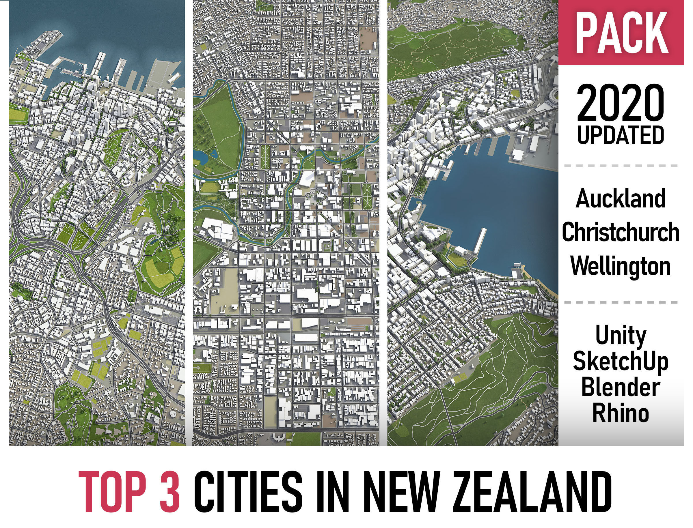 TOP 3 New Zealand Cities MEGAPACK