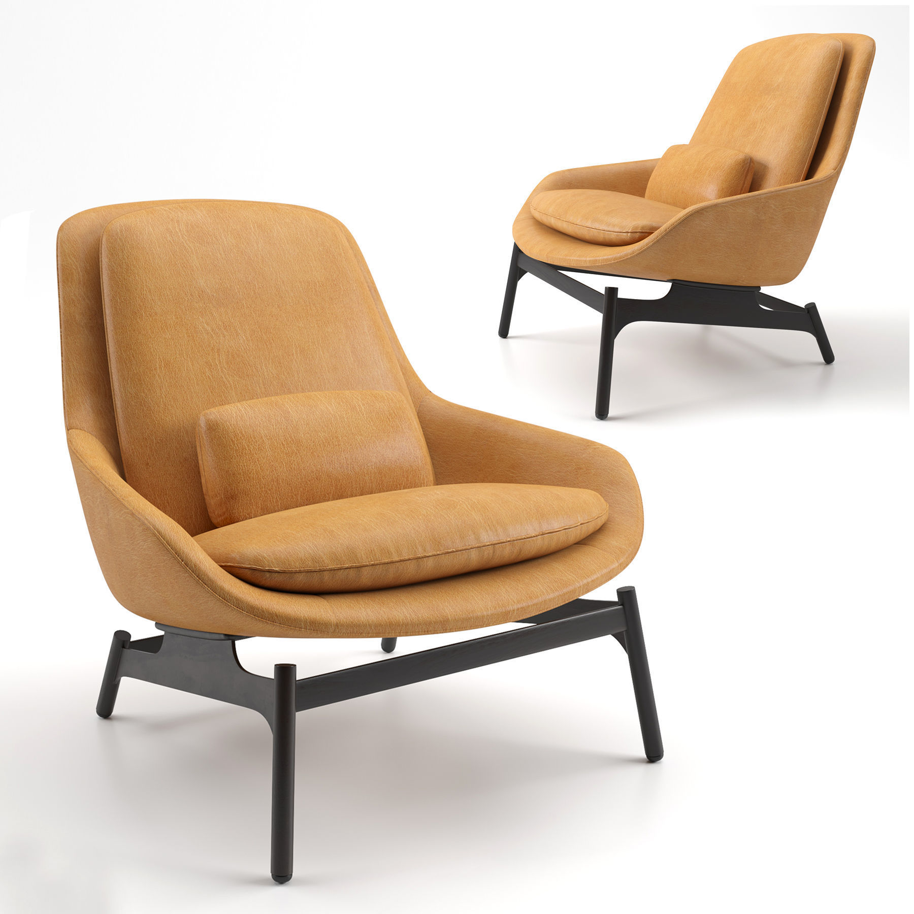 Blu Dot Leather Field Lounge Chair