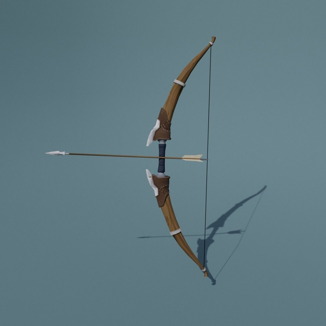 Bow handpainted reskin | 3D model