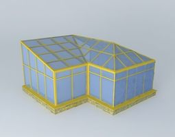 glazing 3D model Green house