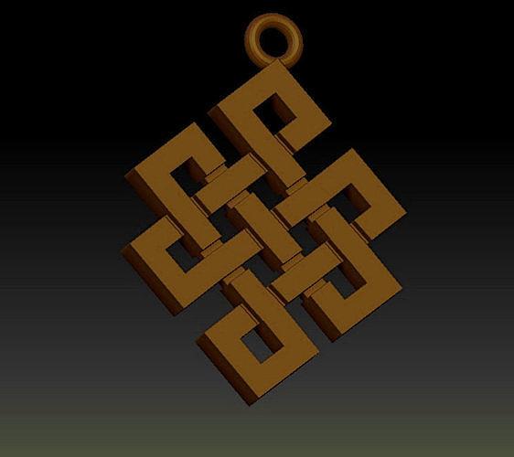 Pendant Amulet  Celtic  3D print model