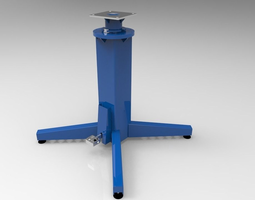 3D model 4-position indexed rotating base