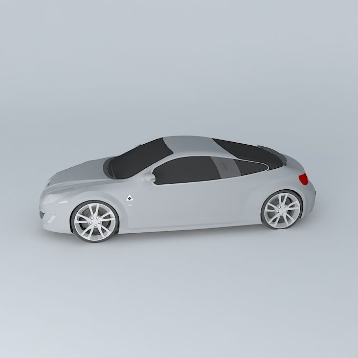 Alfa Romeo GZ Coupé Concept Free 3D Model MAX OBJ 3DS FBX
