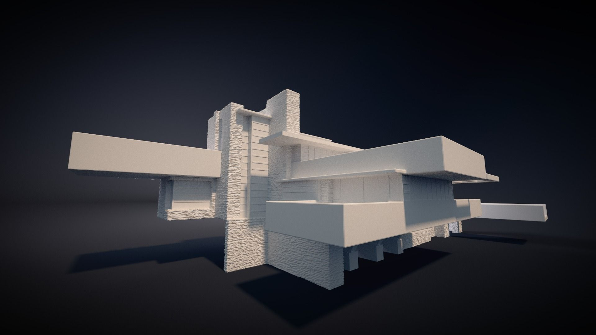 Fallingwater house 3d printable 3d model 3d printable for 3d house images free download