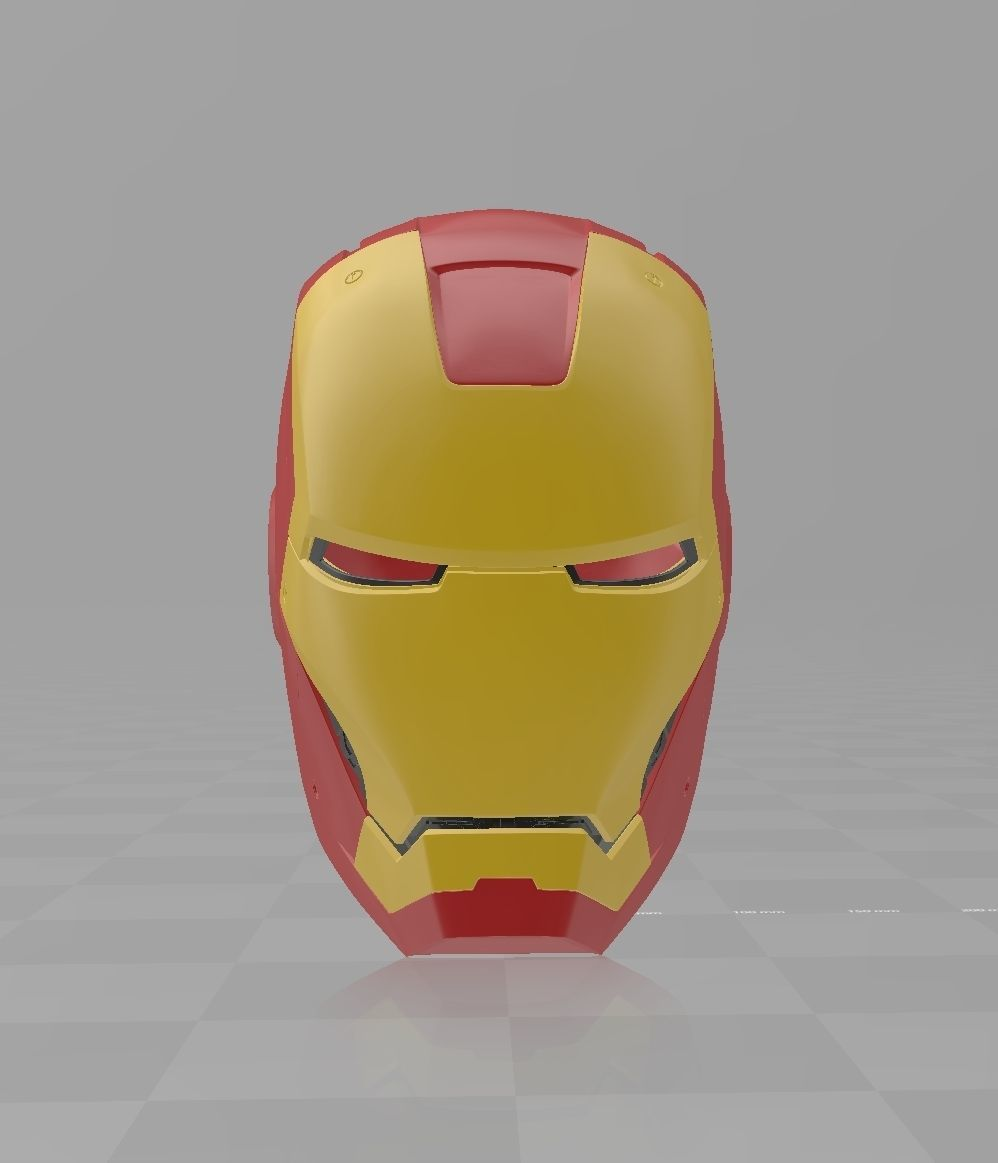 image about Iron Man Mask Printable named Iron Gentleman Mark 3 MK3 Helmet Cosplay avengers 3D Print Design