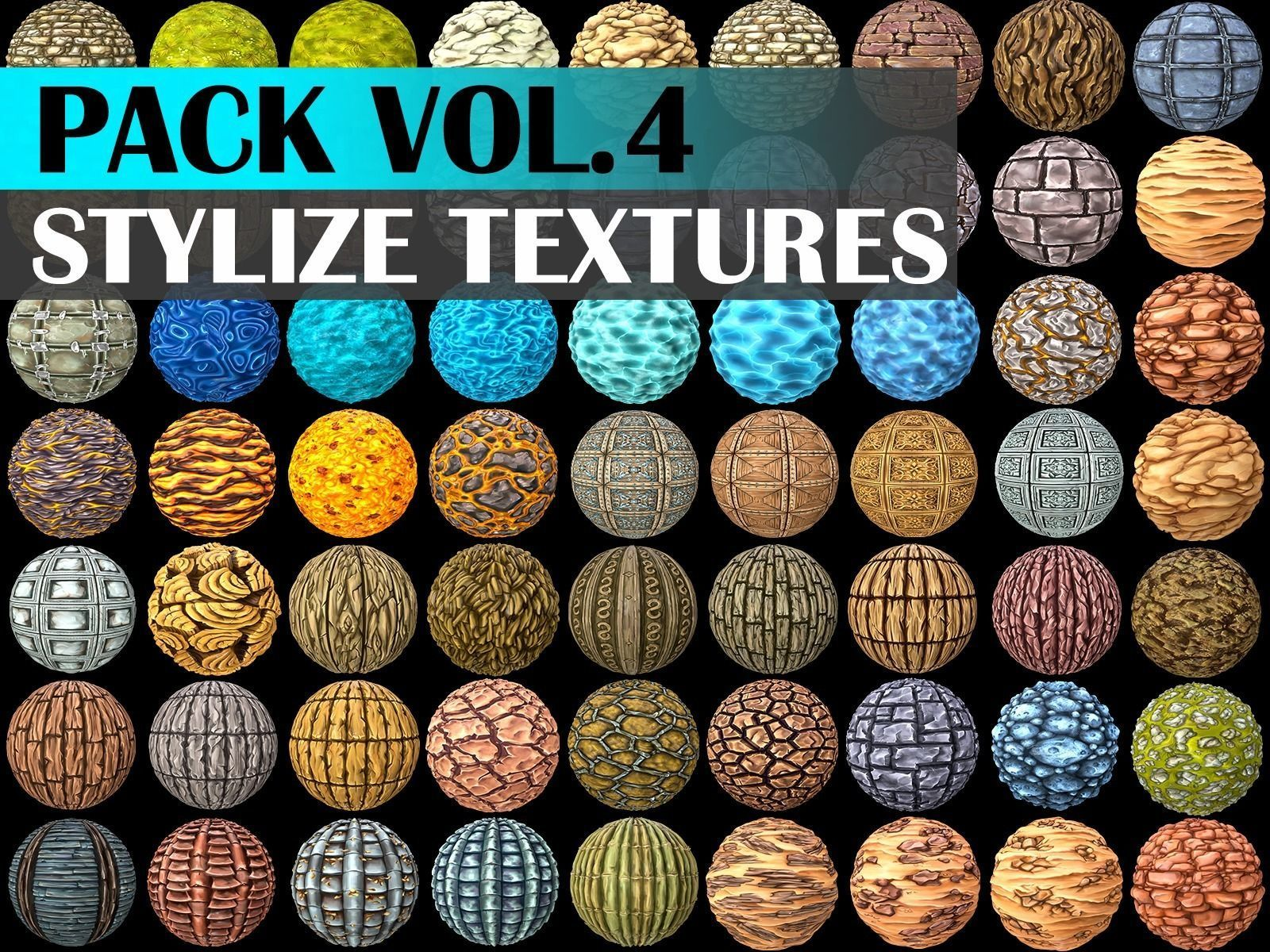 Stylized Texture Pack - VOL 4