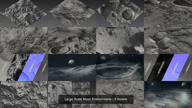 Large-Scale Moon Environments