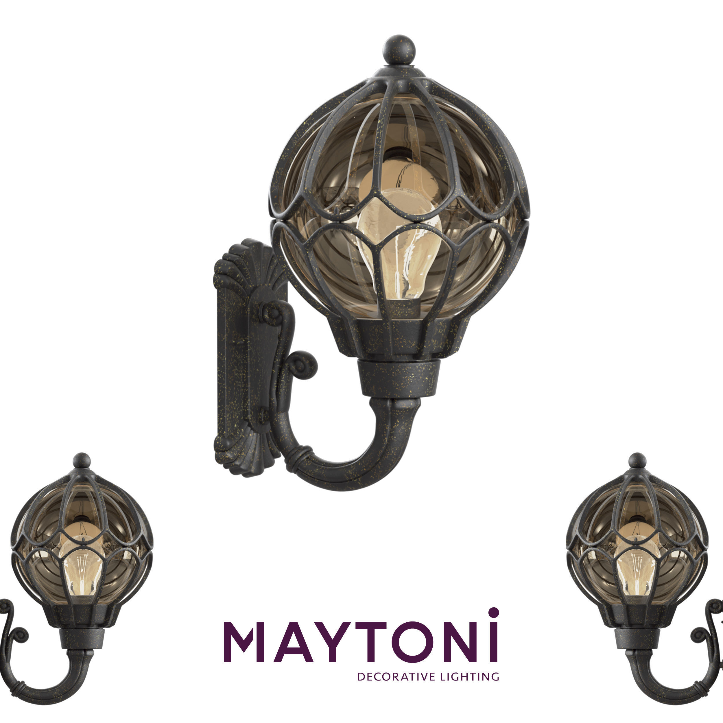 Garden Lamp 3d Model: Wall Lamp Champs Elysees S110-26-01-R Maytoni Outdoor 3D
