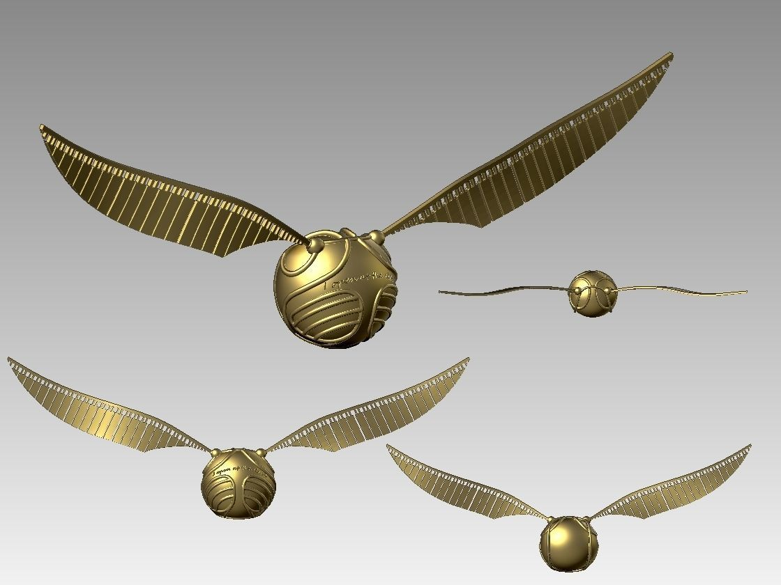 photograph about Golden Snitch Printable named Golden Snitch towards Harry Potter 3D Print Design