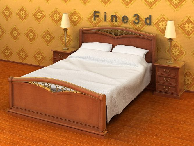 Old fashioned bed collection 3d model max obj 3ds for 3ds max bed model