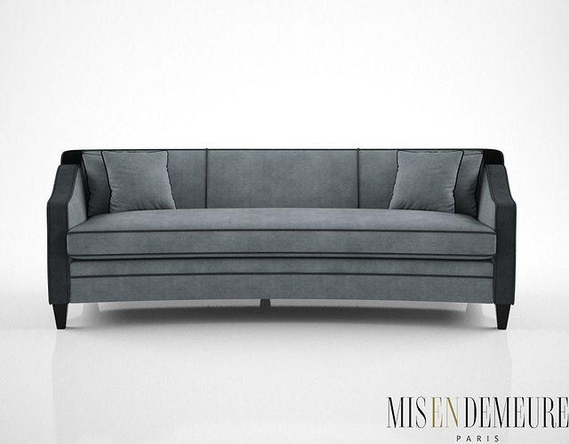 3D model Mis En Demeure Harrison curved sofa | CGTrader