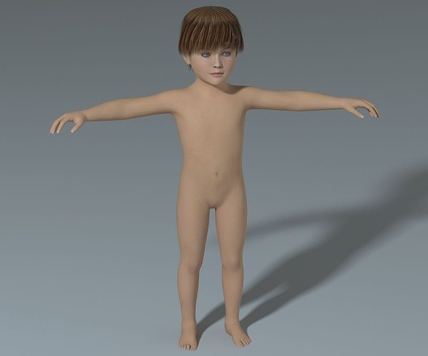 boy-high poly 3d model max obj mtl fbx 1