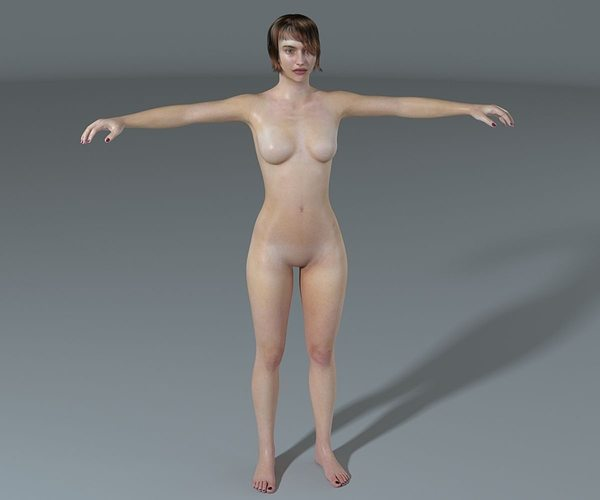 woman-high poly 3d model max obj fbx mtl 1