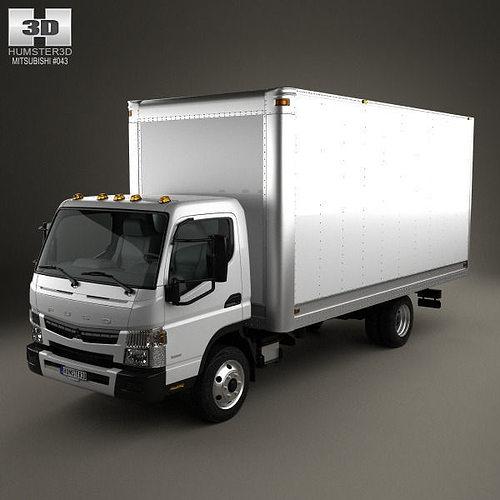Mitsubishi Fuso Box Truck 2013 3d Model Cgtrader