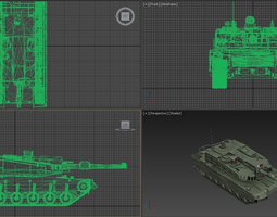 military tank 3D model animated