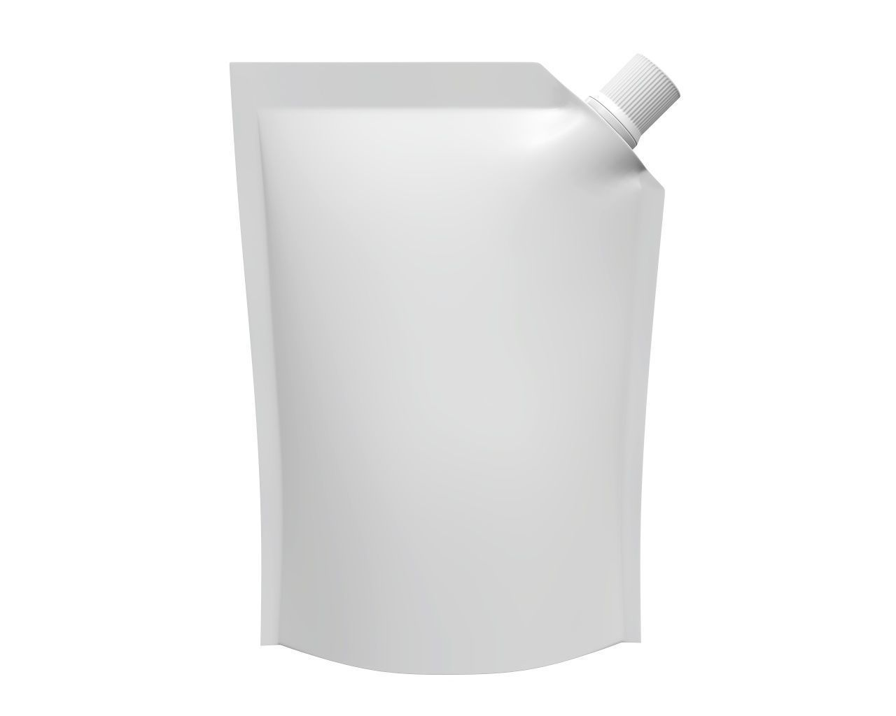 Blank Pouch Bag With Corner Spout Lid Mock Up 03