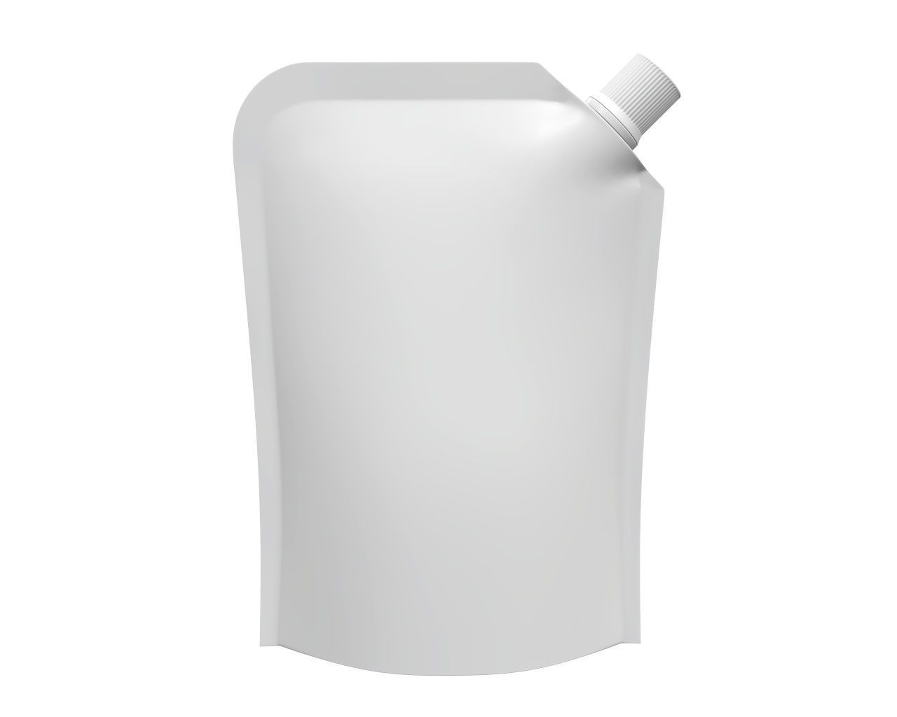 Blank Pouch Bag With Corner Spout Lid Mock Up 04