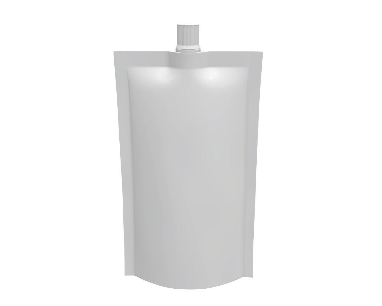 Blank Pouch Bag With Top Spout Lid Mock Up 05