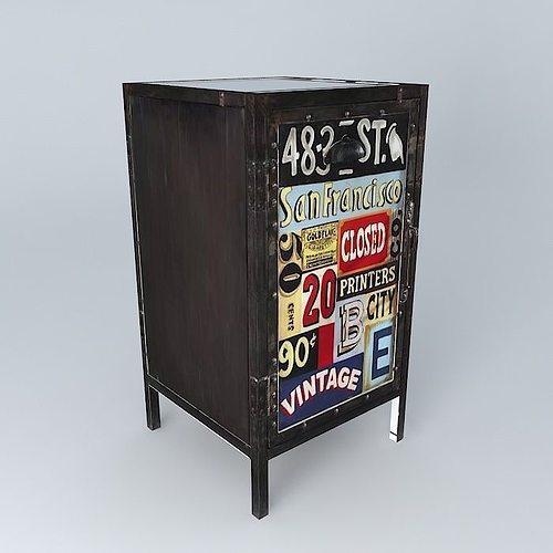 Vintage Cabinet 3d Model Max Obj 3ds Fbx Stl Dae 1