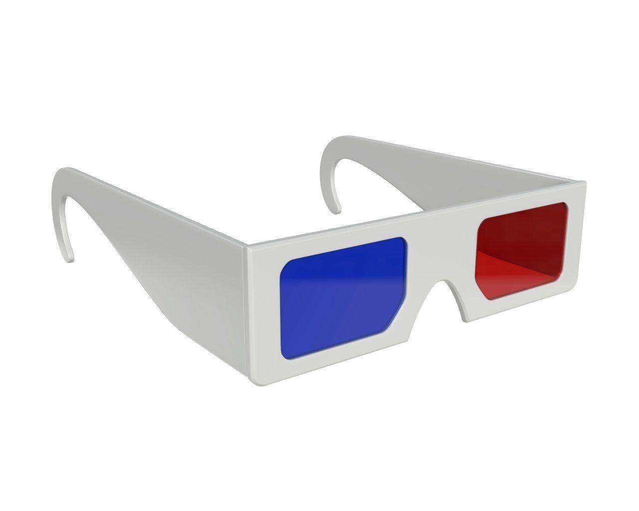 Glasses cinema 3d paper red blue