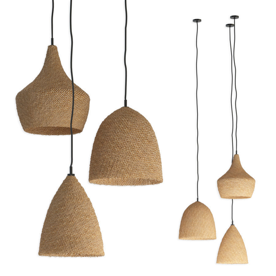 Daniella Witte Wicker rattan chandeliers