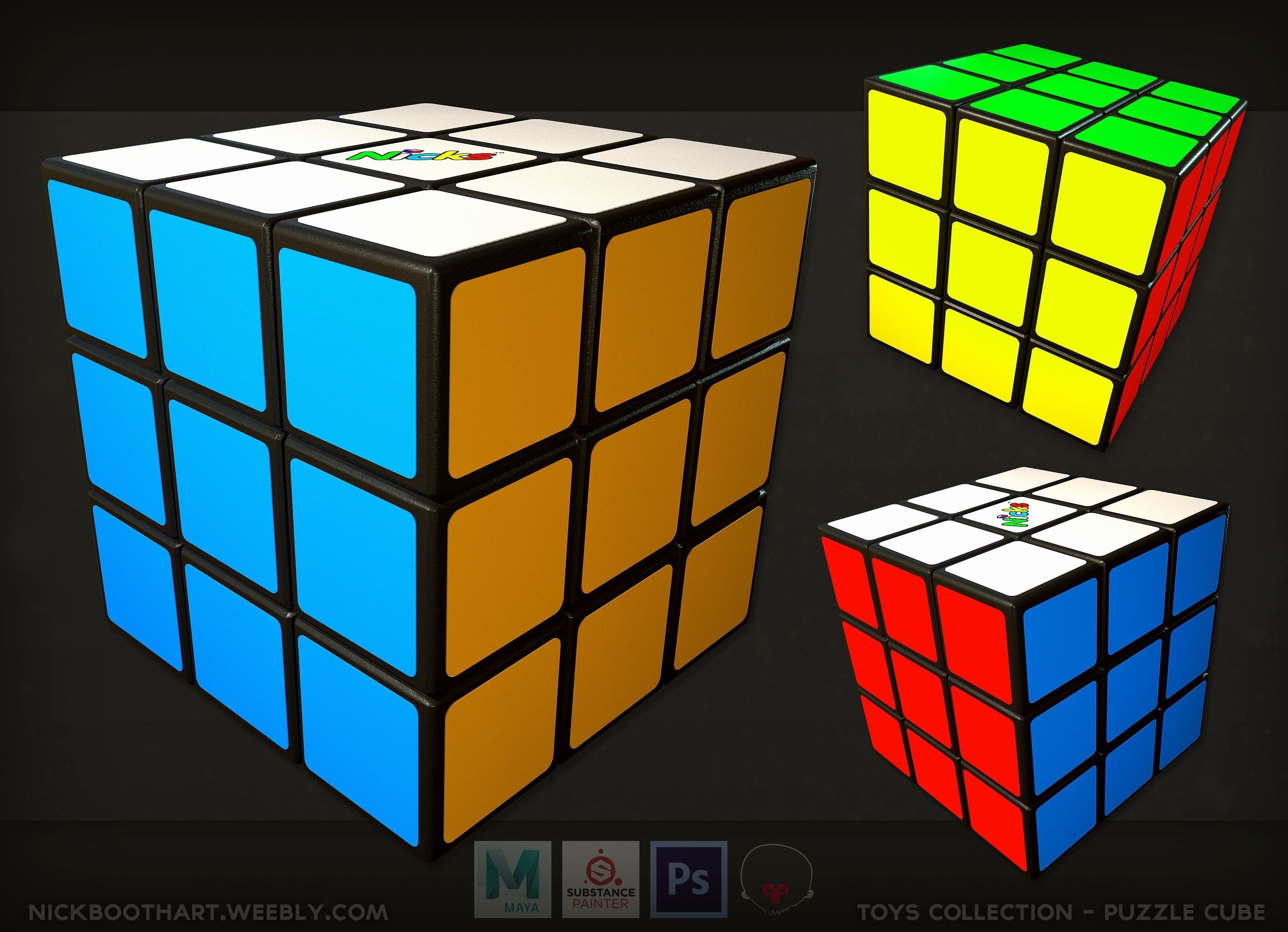 sneakers for cheap order online new style Puzzle Cube Rubik | 3D model
