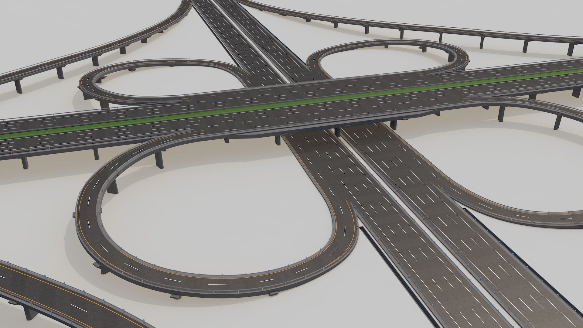 Highway Intersection Road Bridge