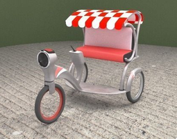GPS Auto- Cycle Rikshaw 3D