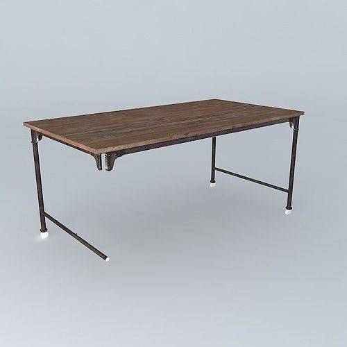 archibald table 3d model max obj 3ds fbx stl dae 1