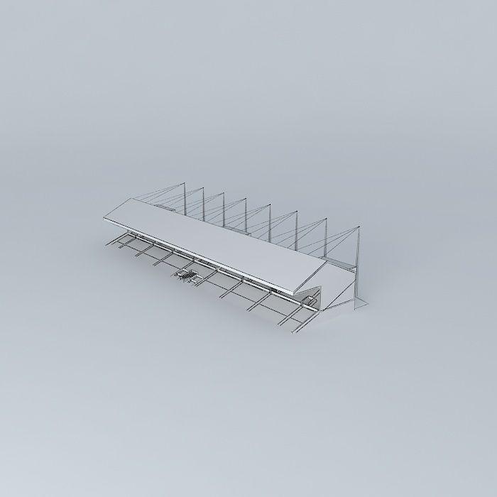 Sparrow Park Main Stadium Stand Free 3d Model Max Obj 3ds