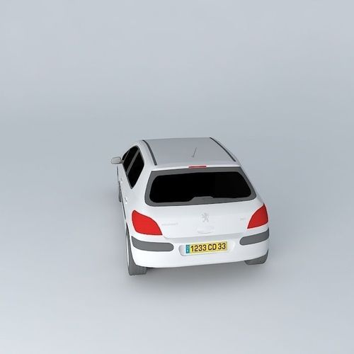 Peugeot 108 3 Door 1 0 Active Hatchback: Peugeot 307 XS 5p Hatchback 2001 Free 3D Model MAX OBJ 3DS