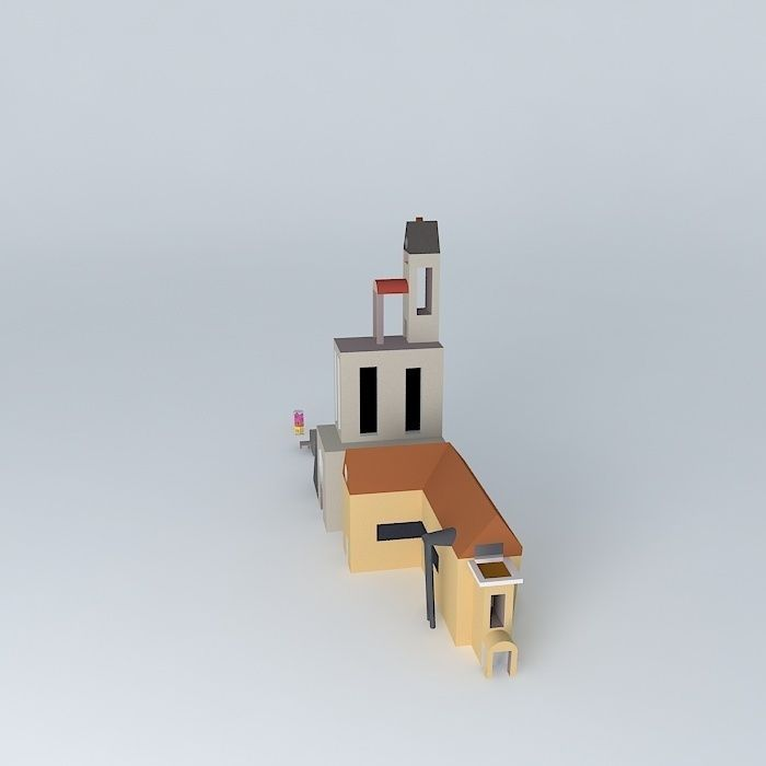 My first home free 3d model max obj 3ds fbx stl dae for My home 3d