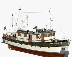 Columbia Mission Boat 3D model