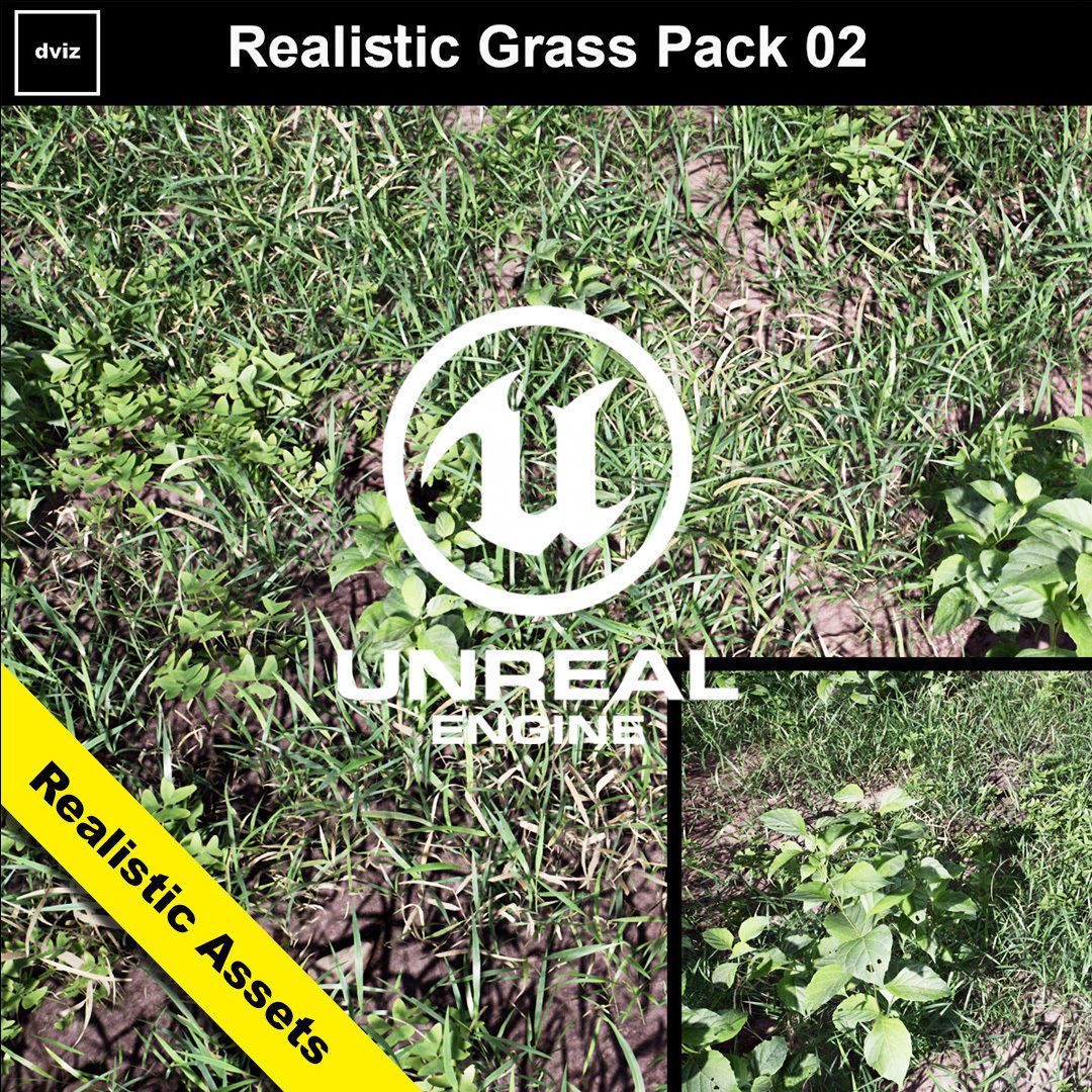 Realistic Grass Pack 02 - Unreal Engine 4 | 3D model
